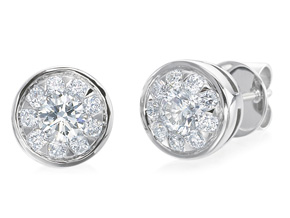 Earrings from the Diamond Bouquets™ - By Memoire - Style #: MBQL85E-0100TW