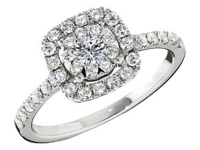 Engagement Rings from the Diamond Bouquets™ - By Memoire - Style #: MCBQ5R-0075TW
