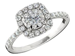 Engagement Rings from the Diamond Bouquets™ - By Memoire - Style #: MCBQ5R-0090TW