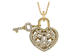 Pendants from the Lover's Locks - By Memoire - Style #: MLL41P-0040TY