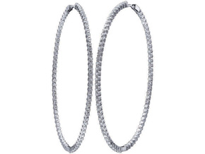 Earrings from the Diamond Hoops - By Memoire - Style #: MSPOHLE-0333AW