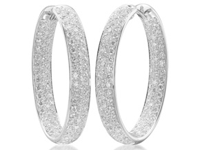 Earrings from the Diamond Hoops - By Memoire - Style #: MVOHE-0475AW