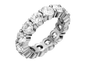 Wedding Rings from the Pétite Prong® - By Memoire - Style #: MIP1-0650MWZ65
