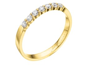 Wedding Rings from the Pétite Prong® - By Memoire - Style #: MIP7-0025MY