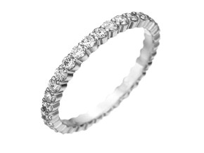 Wedding Rings from the Pétite Prong® - By Memoire - Style #: MIP1-0050MPLZ475