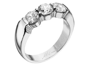 Wedding Rings from the Pétite Prong® - By Memoire - Style #: MIP3-0150MPL