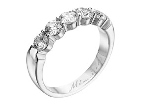 Wedding Rings from the Pétite Prong® - By Memoire - Style #: MIP5-0125MPL