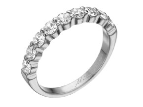 Wedding Rings from the Pétite Prong® - By Memoire - Style #: MIP9-0100MPL