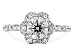 Engagement Rings from the Lorelei - By Hearts On Fire - Style #: HBRFLOR00758RA-C