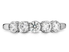 Wedding Rings from the Multiplicity - By Hearts On Fire - Style #: HBA5HRT00258W-C