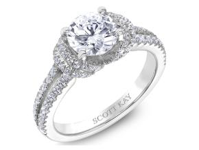 Engagement Rings from the Luminaire - By Scott Kay - Style #: M2510R312PP