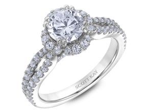 Engagement Rings from the Heaven's Gates - By Scott Kay - Style #: M2562R510PP