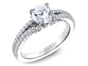 Engagement Rings from the Heaven's Gates - By Scott Kay - Style #: M2567R510PP
