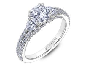 Engagement Rings from the Heaven's Gates - By Scott Kay - Style #: M2568R510PP