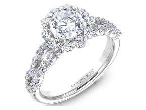 Engagement Rings from the Namaste - By Scott Kay - Style #: M2571R510PP