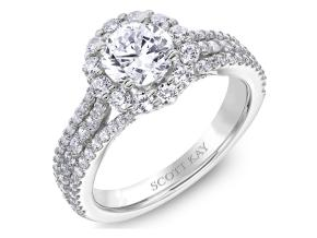 Engagement Rings from the Namaste - By Scott Kay - Style #: M2577R510PP