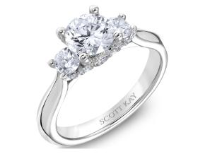 Engagement Rings from the Crown Setting - By Scott Kay - Style #: M2585R510PP
