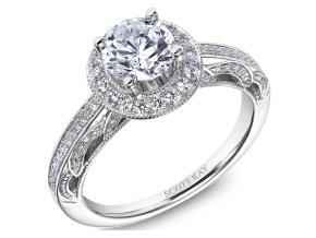 Engagement Rings from the Parisi - By Scott Kay - Style #: M2610R310PP