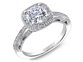 Engagement Rings from the Parisi - By Scott Kay - Style #: M2611R310PP