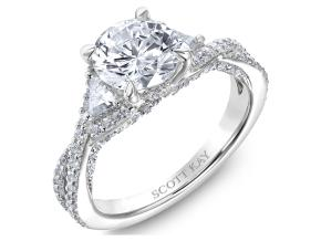 Engagement Rings from the Namaste - By Scott Kay - Style #: M2614TR515PP