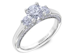 Engagement Rings from the Crown Setting - By Scott Kay - Style #: M2615R510PP