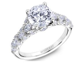 Engagement Rings from the Luminaire - By Scott Kay - Style #: M2618RM520PP