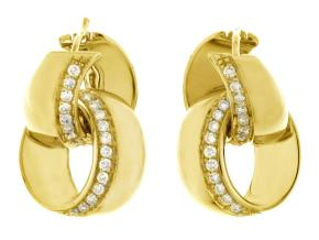 Earrings from the Link Infinity - By Chimento - Style #: 1O07991B1100S