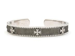 Bracelets from the JudeFrances Silver - By JudeFrances - Style #: B026Q-WT-6.5-B-S