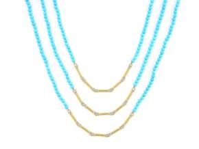Necklaces from the Lisse - By JudeFrances - Style #: SC31F15-TQ-WDCB-52-Y