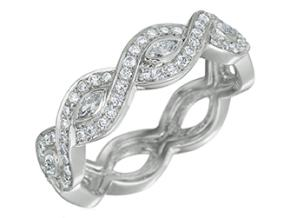 Wedding Rings from the Deco - By Gumuchian - Style #: R810GHP