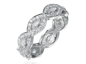 Wedding Rings from the Deco - By Gumuchian - Style #: R810GP