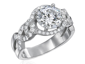 Engagement Rings from the Deco - By Gumuchian - Style #: R824P2C