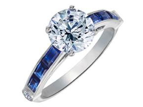 Engagement Rings from the Deco - By Gumuchian - Style #: R844P2CSA