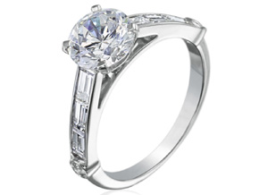 Engagement Rings from the Deco - By Gumuchian - Style #: R844P3C
