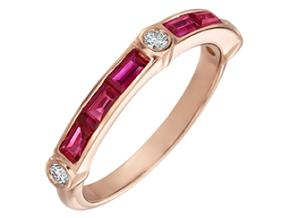 Wedding Rings from the Deco - By Gumuchian - Style #: R845GH2PKR