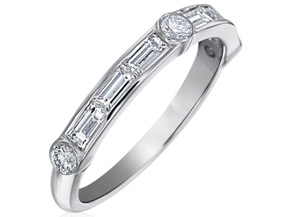 Wedding Rings from the Deco - By Gumuchian - Style #: R845GHP1