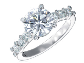 Engagement Rings from the Twinset - By Gumuchian - Style #: RT20P2.5C