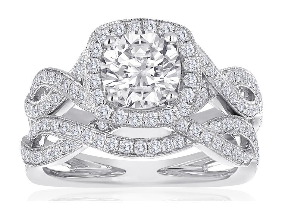 White Gold Engagement Rings Hint Whisper