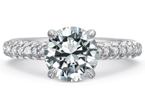 Engagement Rings from the New Aire - By Precision Set - Style #: 2035