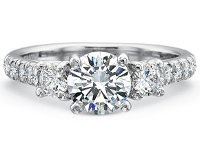 Engagement Rings from the New Aire - By Precision Set - Style #: 2045