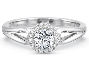 Engagement Rings from the New Aire - By Precision Set - Style #: 2093
