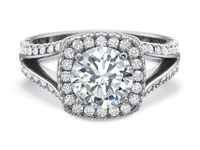Engagement Rings from the New Aire - By Precision Set - Style #: 285318W