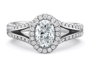 Engagement Rings from the New Aire - By Precision Set - Style #: 286018W