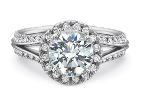 Engagement Rings from the New Aire - By Precision Set - Style #: 299018W