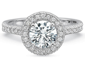 Engagement Rings from the Petite FlushFit - By Precision Set - Style #: 7100