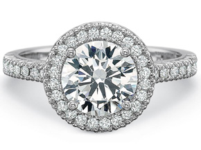 Engagement Rings from the Petite FlushFit - By Precision Set - Style #: 7101