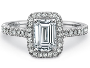 Engagement Rings from the Petite FlushFit - By Precision Set - Style #: 7112