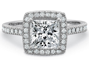 Engagement Rings from the Petite FlushFit - By Precision Set - Style #: 7118