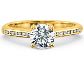 Engagement Rings from the Petite FlushFit - By Precision Set - Style #: 7204