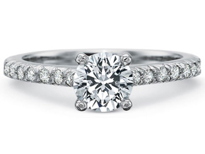Engagement Rings from the Petite FlushFit - By Precision Set - Style #: 7260